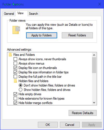 Как настроить вид папок по умолчанию для всех папок в Windows 10.