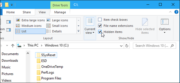 Как открыть скрытые папки в Windows 10.