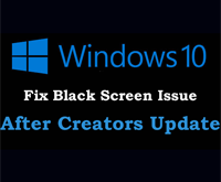 Как исправить ошибку чёрный экран после обновления Windows 10.