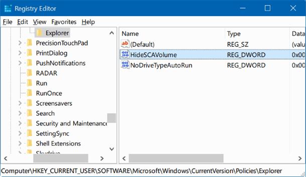 Пропал значок громкости с панели задач в Windows 10.