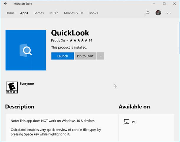 Предварительный просмотр аудио и видео файлов в Windows 10.