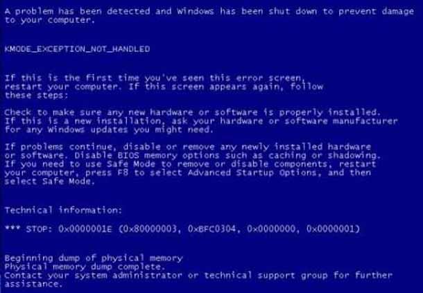 Как исправить исключение KMODE не обрабатываются в Windows 10.
