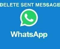 Как в whatsapp удалить отправленный текст.