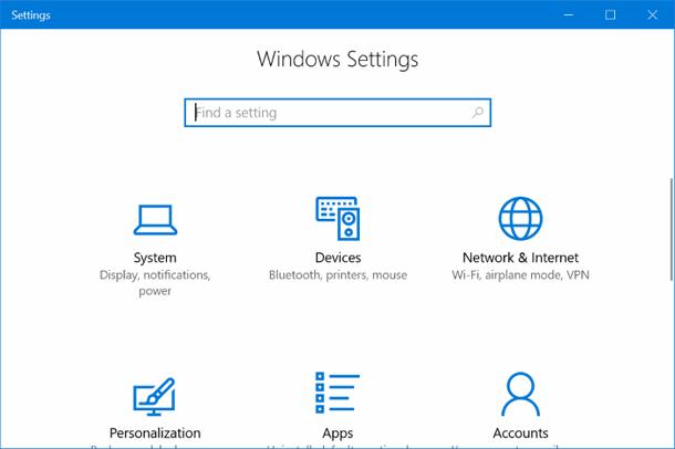 Как включить или отключить параметры в Windows 10?