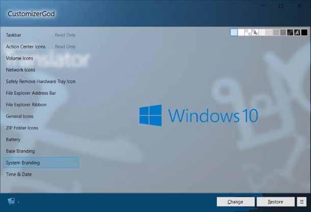Как изменить иконки windows 10.