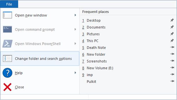 Как очистить последние файлы в проводнике Windows 10.