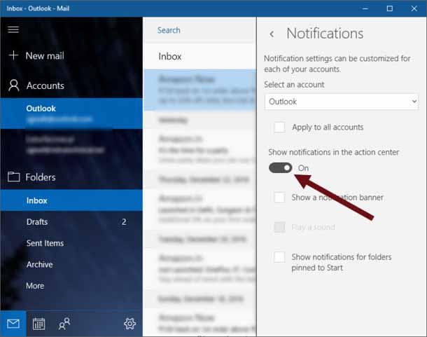 Как отключить или изменить звук уведомлений о новой почте в Windows 10.