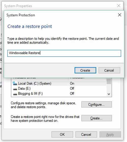 Как создать точку восстановления в Windows 10?
