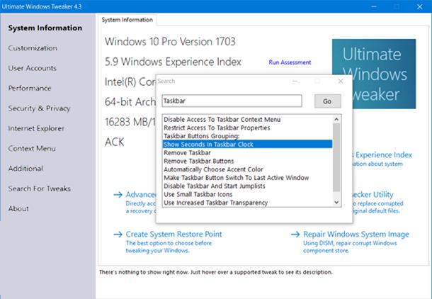 Ultimate Windows Tweaker 4 для Windows 10.