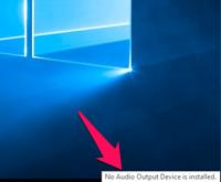 Нет звука в Windows 10.